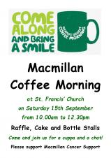 St Francis Macmillan Coffee Morning