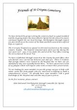Friends of St Crispin Cemetary