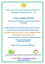 Wellbeing Pop Up - Healthy Living