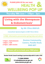 CANCELLED Wellbeing Pop Up - Menopause & Endometriosis