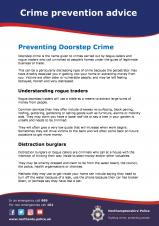 Preventing Doorstep Crime