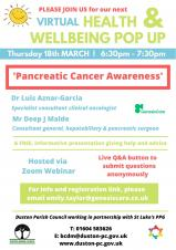 Wellbeing Pop Up Cafe Pancreatic Cancer Awareness
