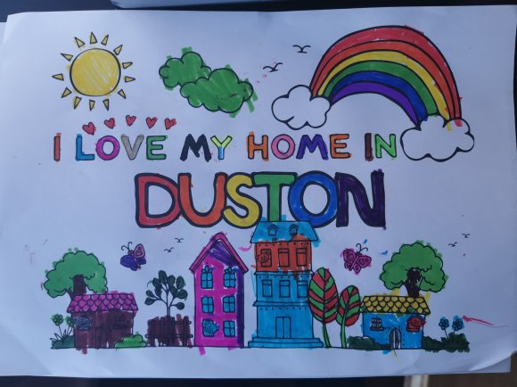 I Love My Home In Duston by Sophia, Aged 5