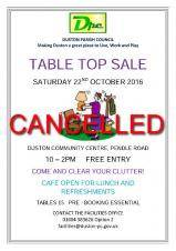 TABLE TOP SALE ON 22 OCTOBER IS NOW CANCELLED