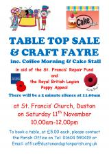 Table Top Sale & Craft Fayre